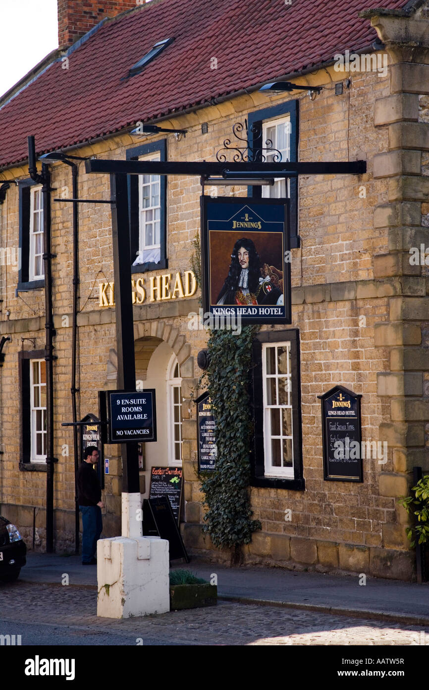 The Kings Head Hotel Kirkbymoorside North Yorkshire Market Town - Stock Image