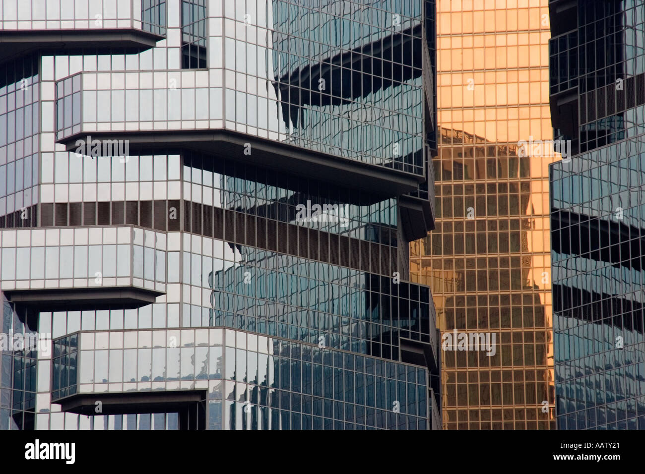 Detail of the Lippo Building in Hong Kong - Stock Image