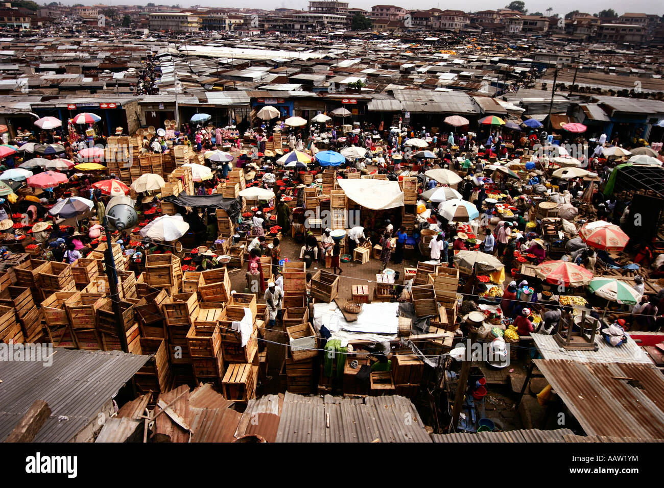 Kejetia market in Kumasi, Ghana  Thought to be West Africa's