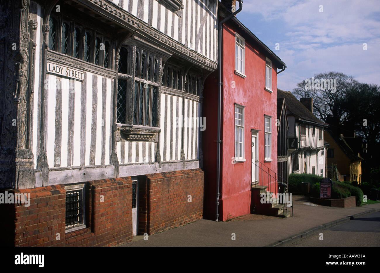 Lady Street Lavenham Suffolk England - Stock Image