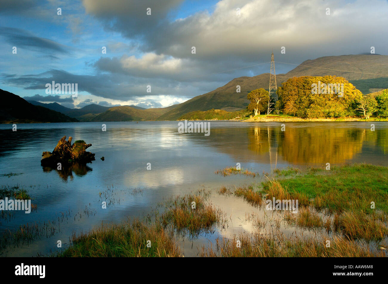 Late evening view of southern end of Loch Etive near Bonawe