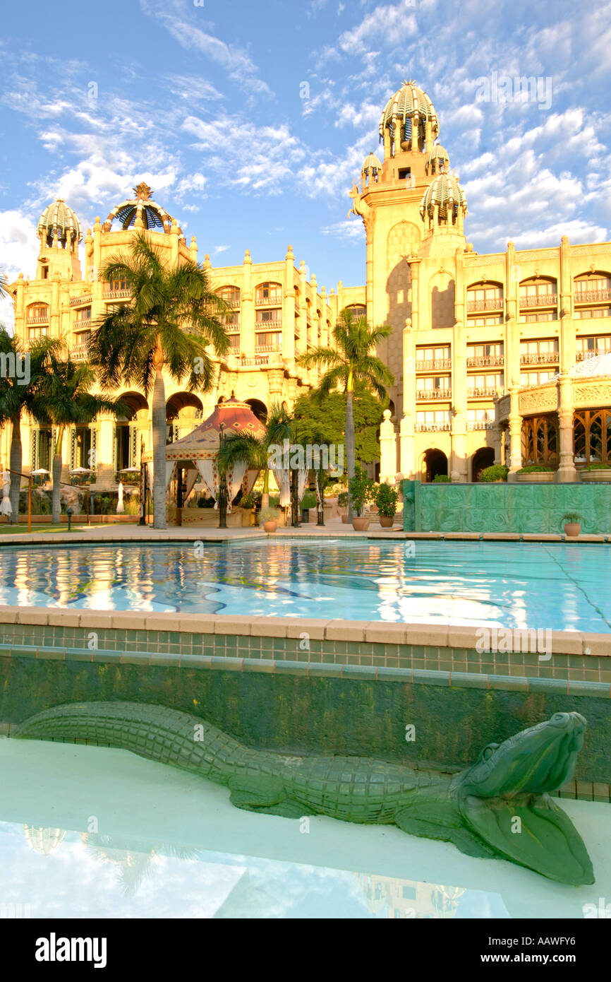 The Palace Of The Lost City >> A Dawn View Of The Swimming Pool Outside The Palace Of The
