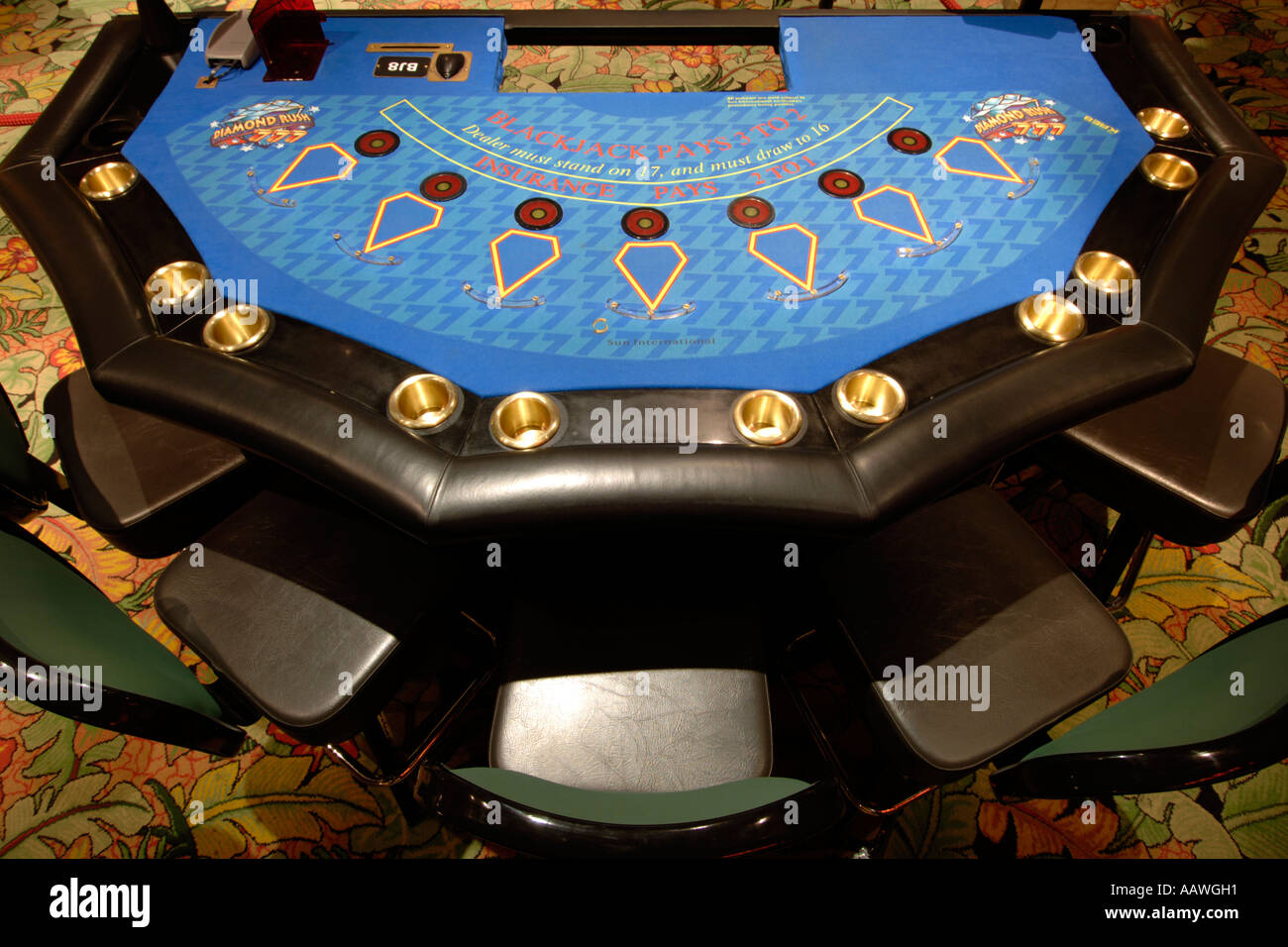 Close Up Of A Blackjack Table In The Sun City Hotel S Casino In South Stock Photo Alamy