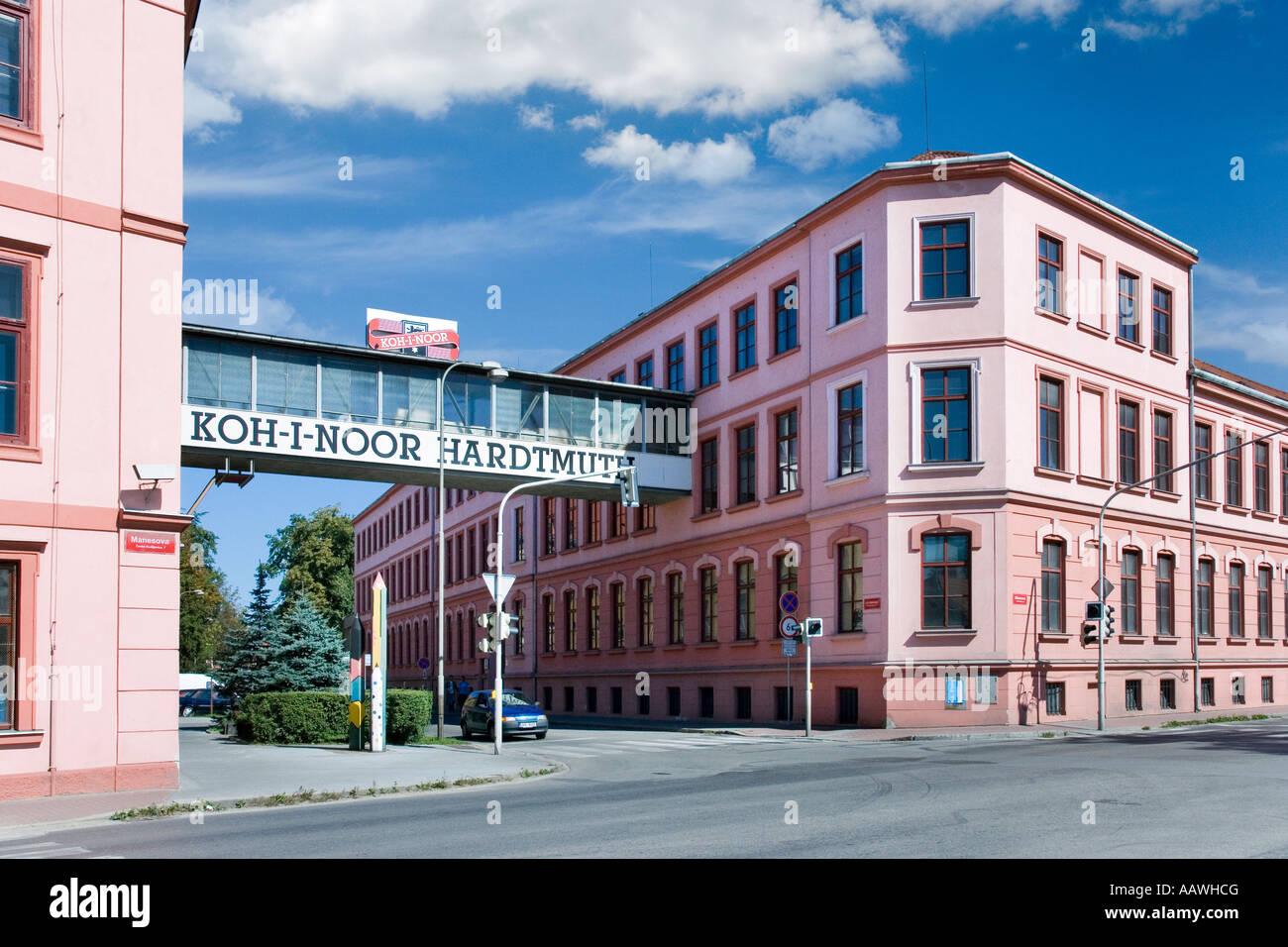 Tovarna Hardtmuth Koh i noor Ceske Budejovice Czech Republic - Stock Image
