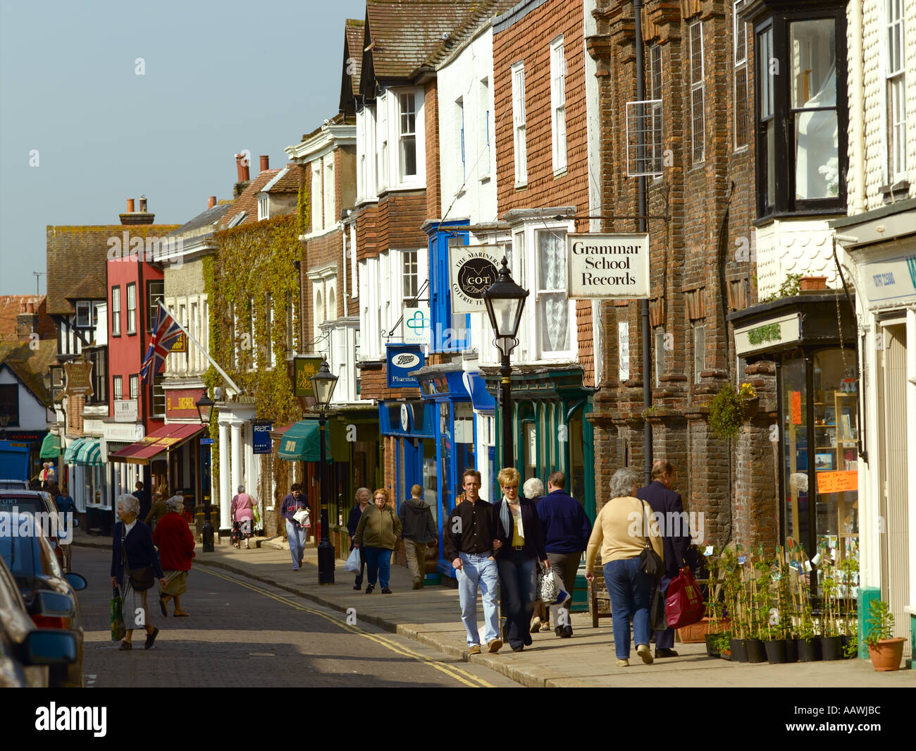 East Sussex, Rye , High Street - Stock Image