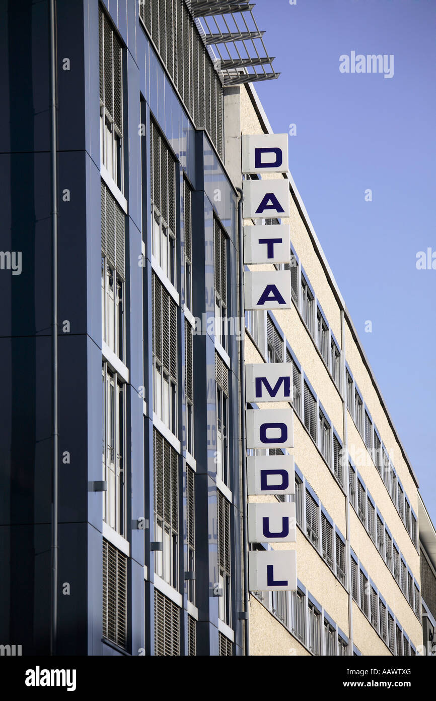 Data Modul, company sign - Stock Image