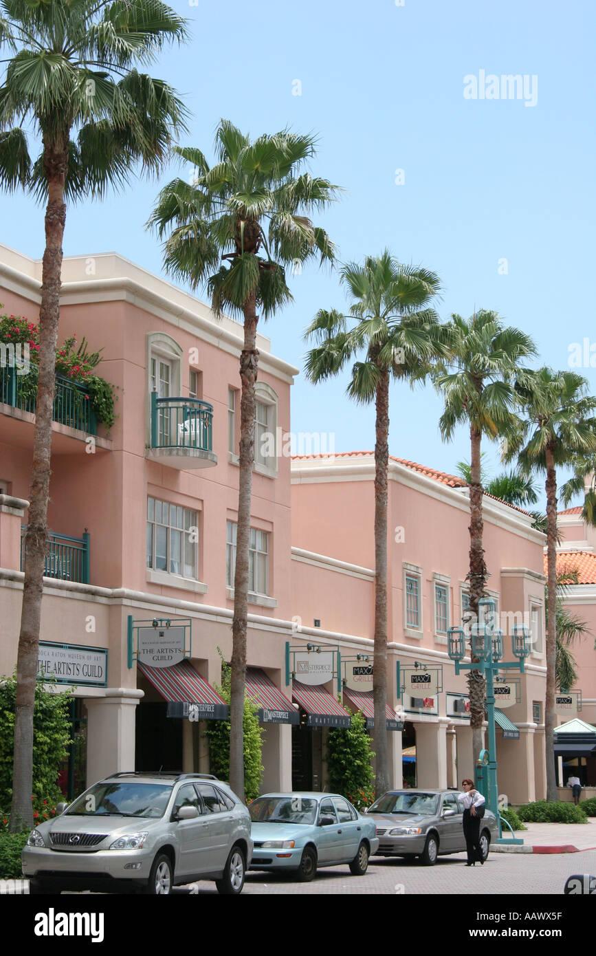Boca Raton Shopping >> Boca Raton Florida Meizner Park Upscale Shopping Stock Photo