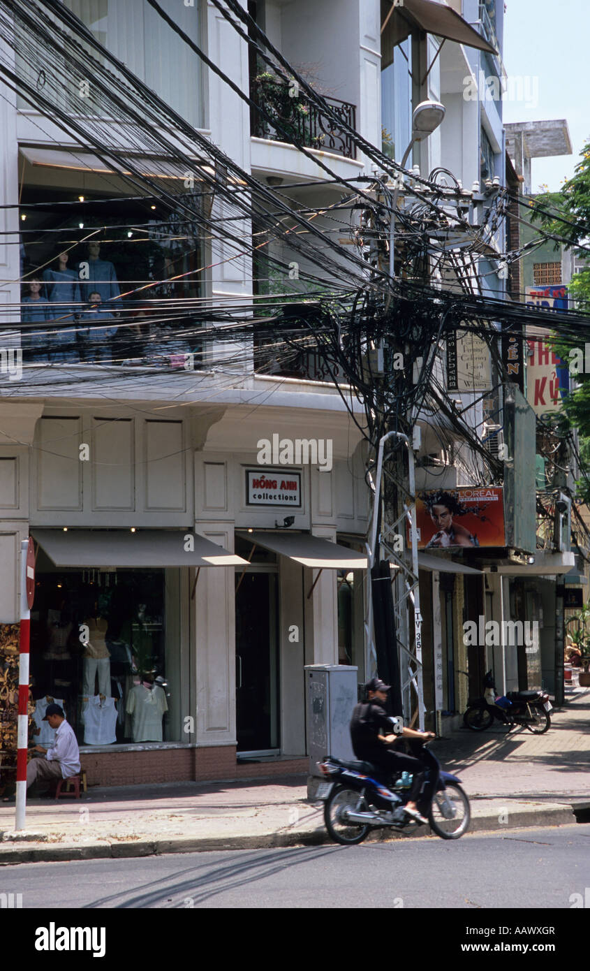 Cabling in Ho Chi Minh City - Stock Image