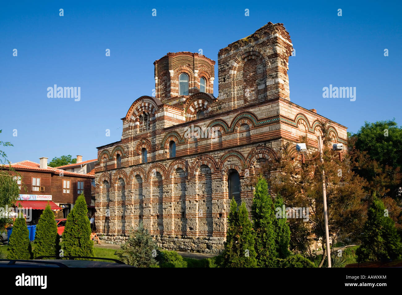 Jesus Christ Pantocrator church, Nesebar, Black Sea, Bulgaria - Stock Image