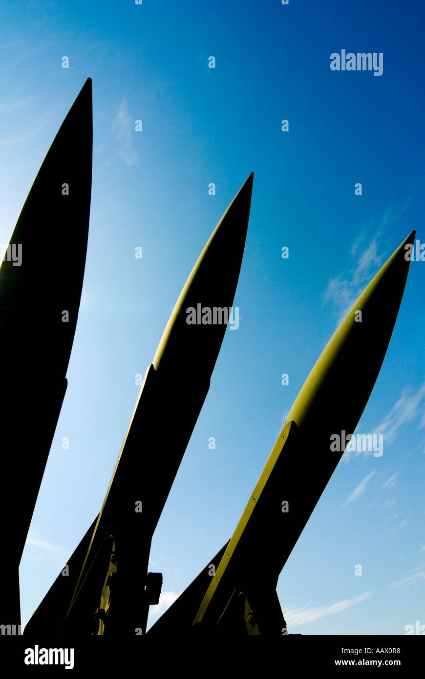 HAWK Air Defense Missiles on Launcher - Stock Image