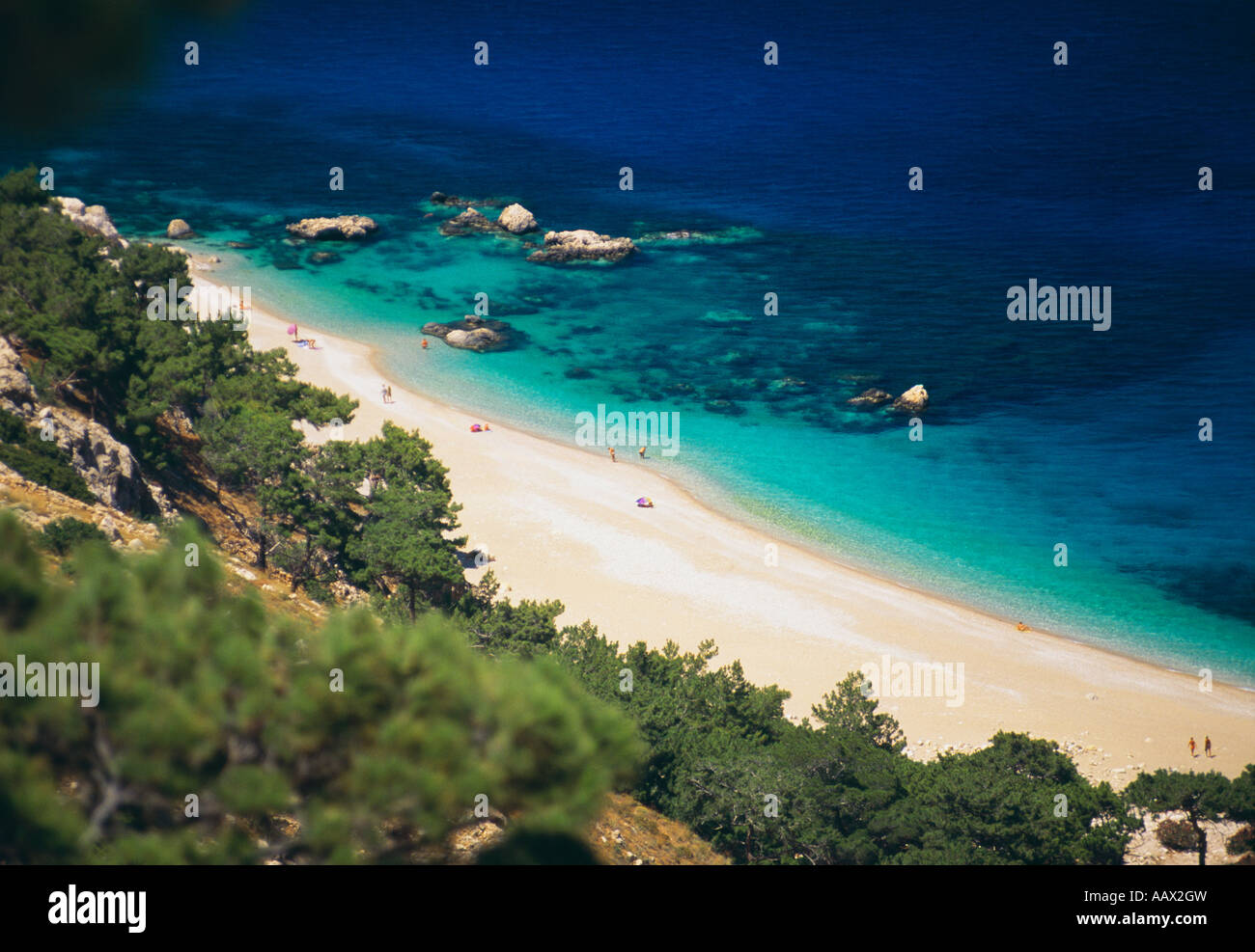 Beach on the Island of Karpathos Dodecanese Islands Greece Stock Photo