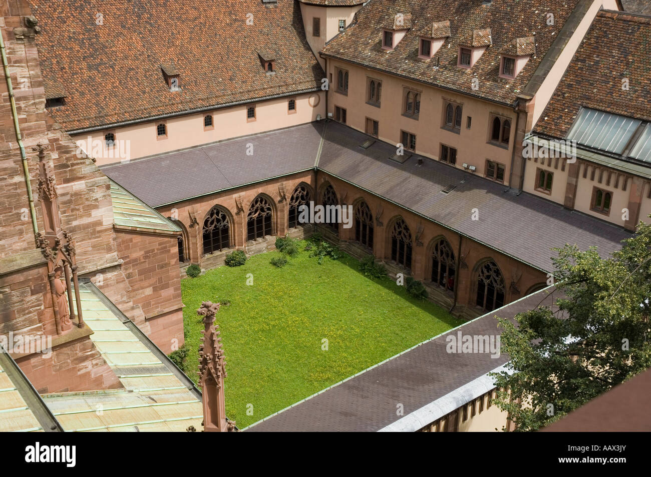 Basel Münster Catherderal Cloisters - Stock Image