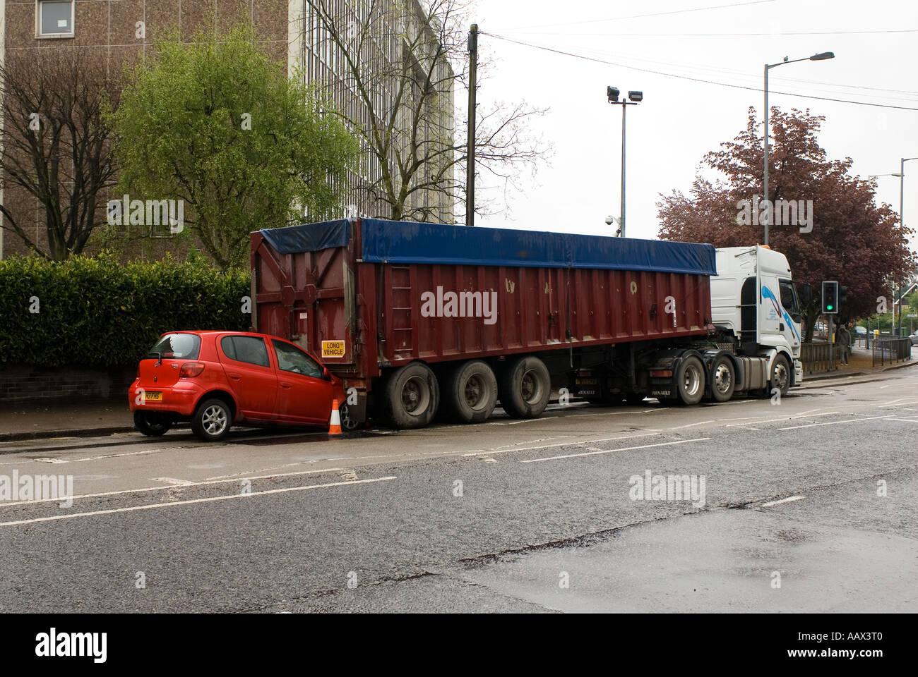 Road traffic accident (RTA) Stock Photo