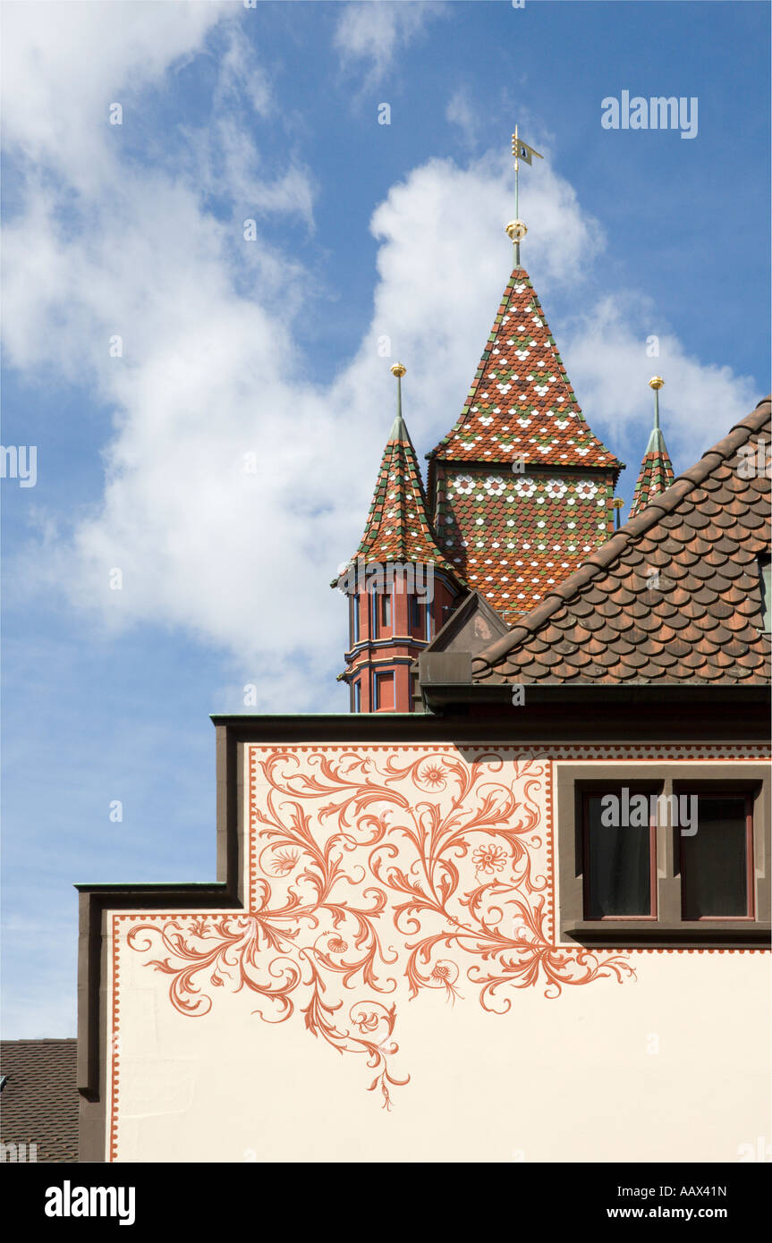 Basel Town Hall Detail-1 - Stock Image