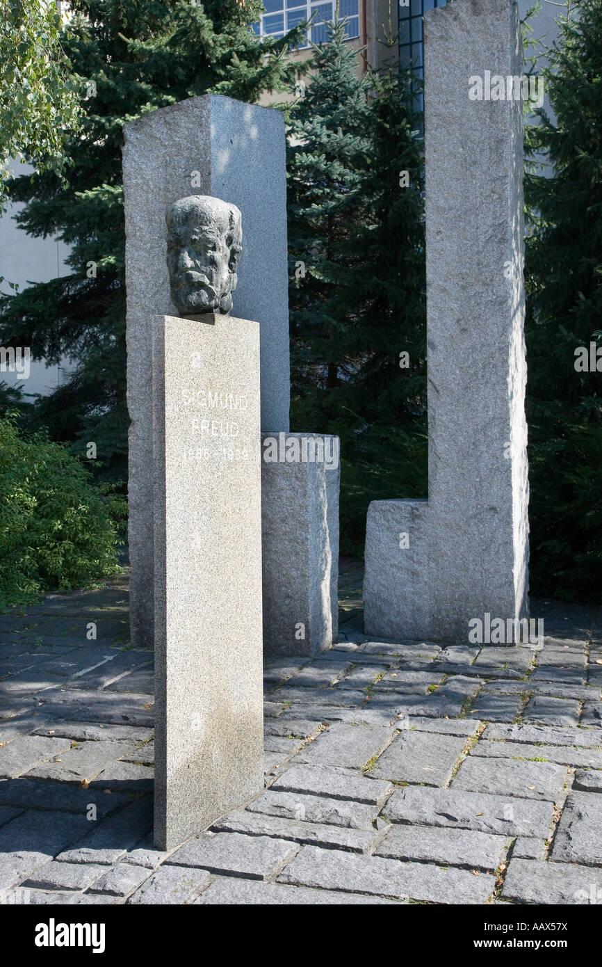 Pomnik Sigmunda Freuda Navratil Makovsky Pribor Czech Republic - Stock Image