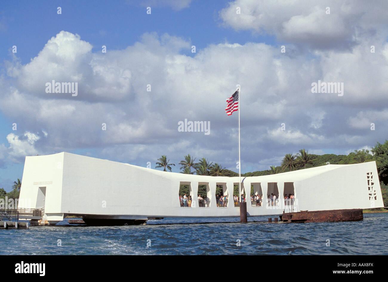 Elk214 1744 Hawaii Oahu Pearl Harbor USS Arizona Memorial Stock Photo