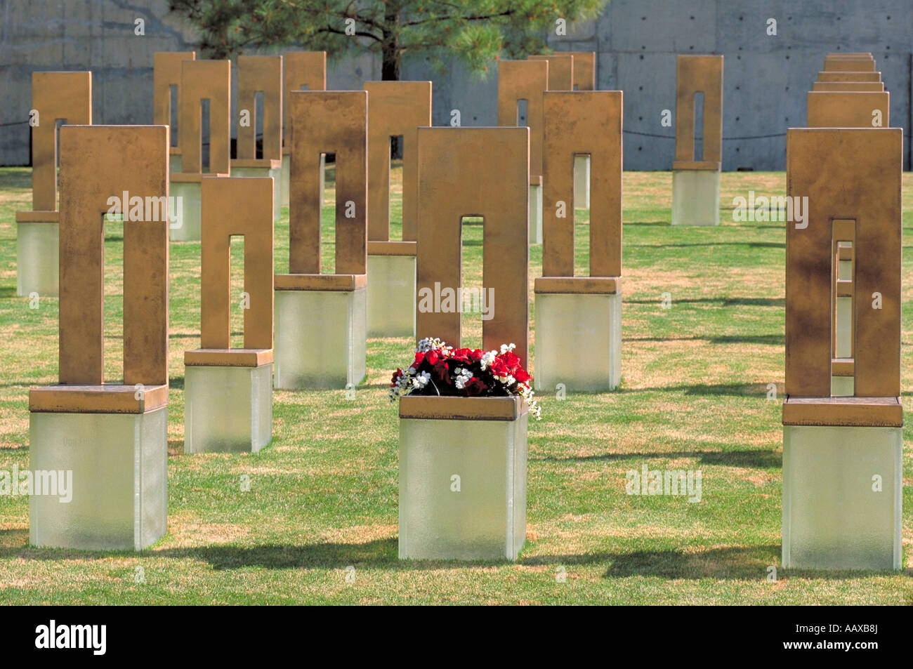Elk279 1021 Oklahoma Oklahoma City Oklahoma City National Memorial Field of Chairs Stock Photo