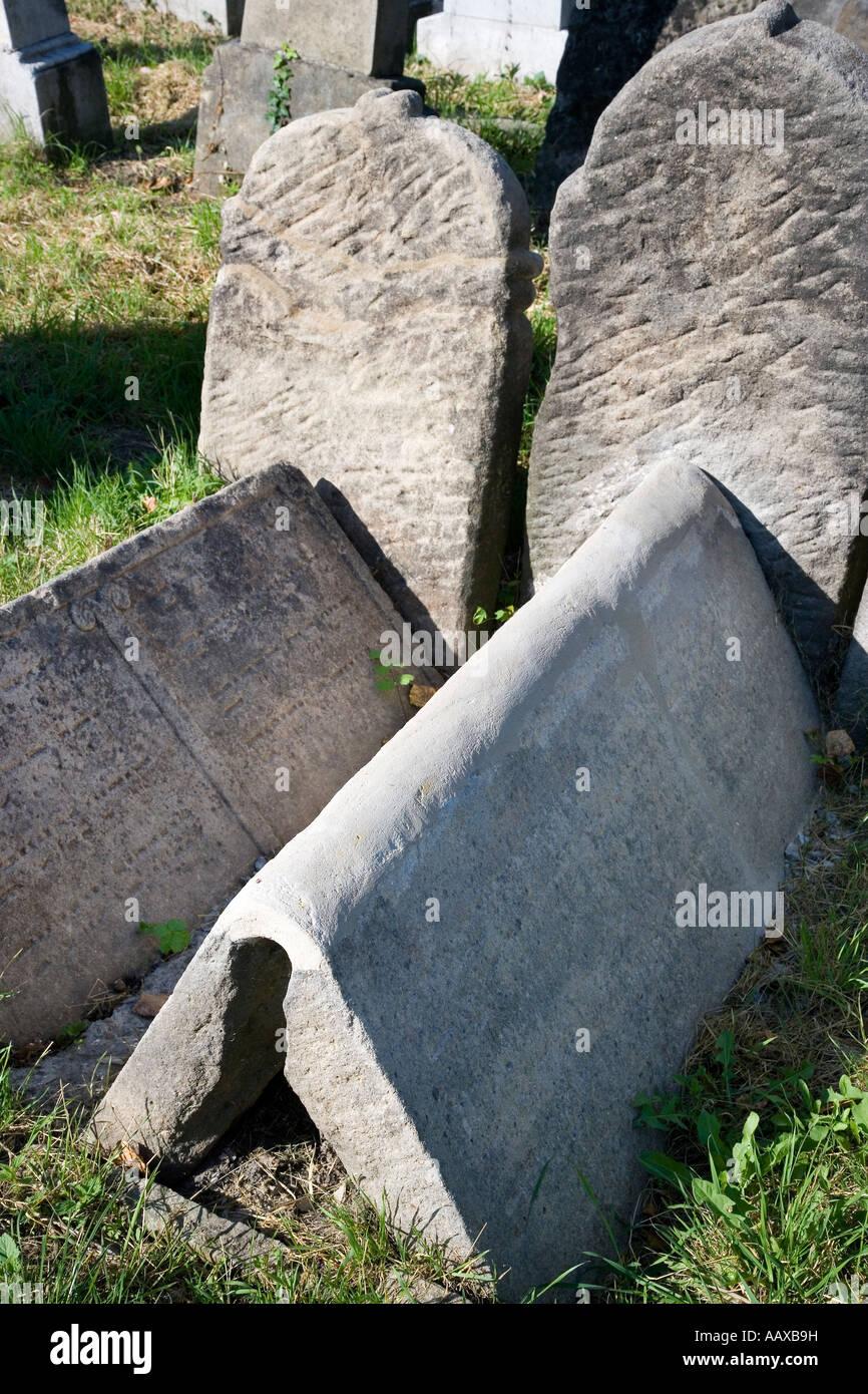 Zidovska Architektura Zidovsky Hrbitov 1500 Nahrobku Holesov Zlinsky Kraj CR - Stock Image