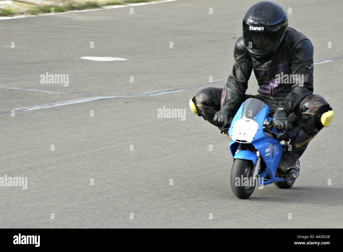 mini moto minibike rider - Stock Image