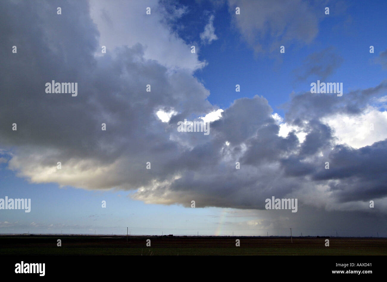 clouds convection precipitation rainfall moisture atmosphere weather system climate changeable changable unpredictable fickle st - Stock Image