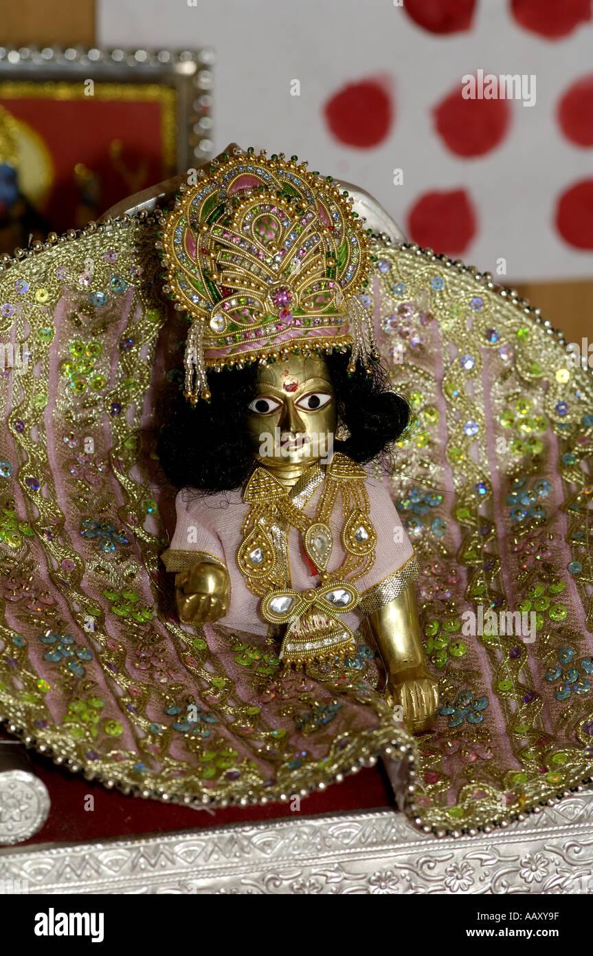 hma70245 lord krishna bal gopal as a child in vrindavan india AAXY9F