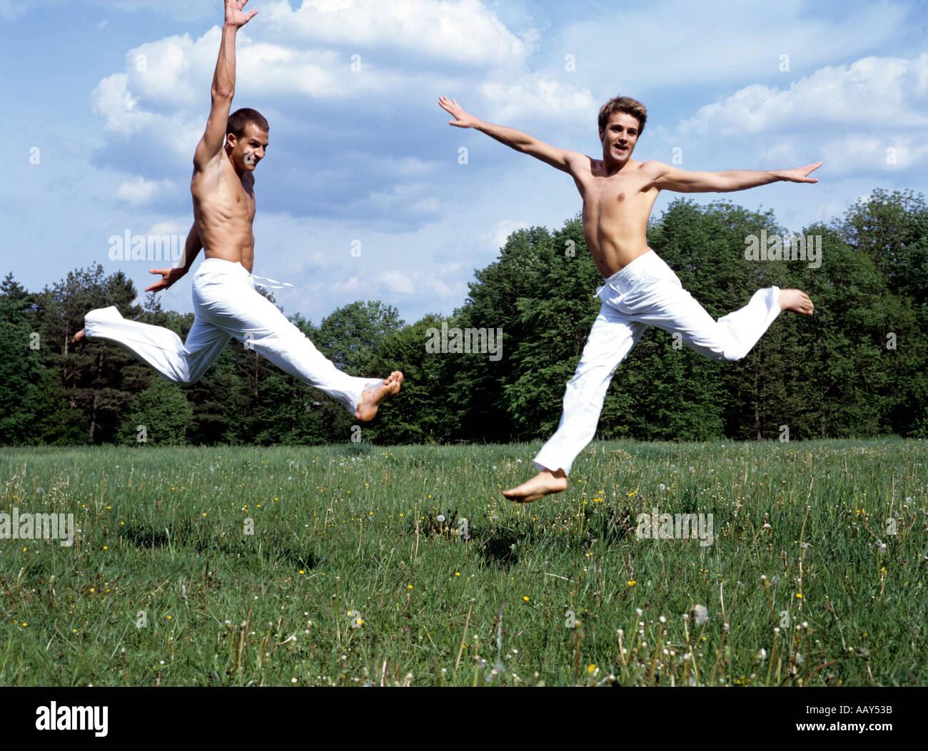 Gay men exercising