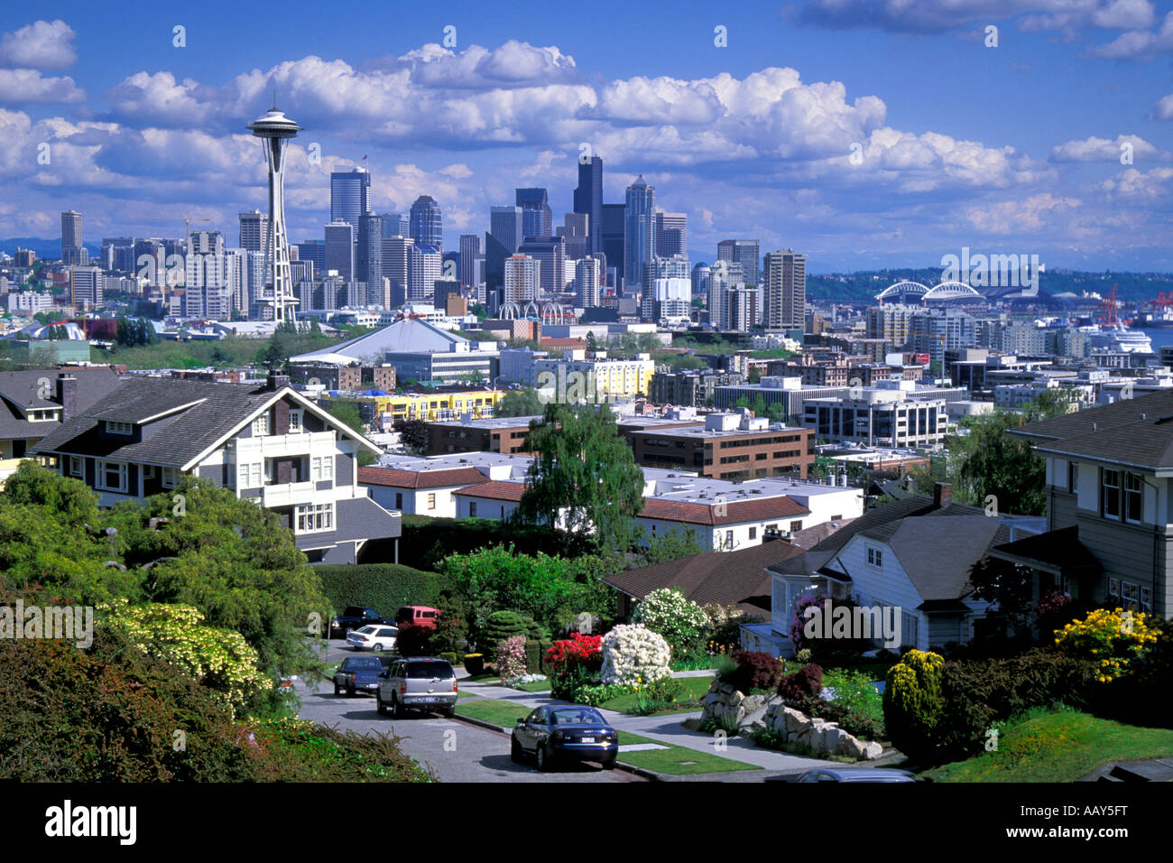 Houses And Homes In The Pacific Northwest With The Skyscrapers And
