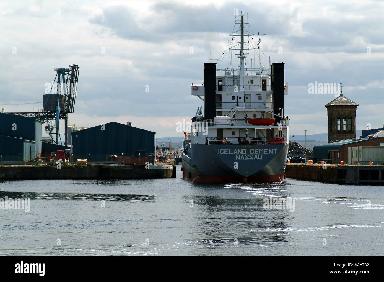 Port of Leith Scotland - Stock Image