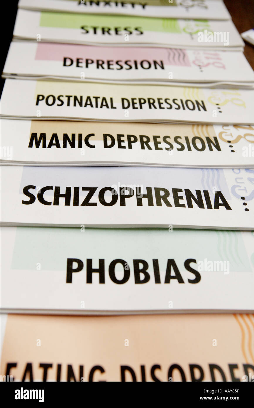 a list of mental health problems stock photo: 12725505 - alamy