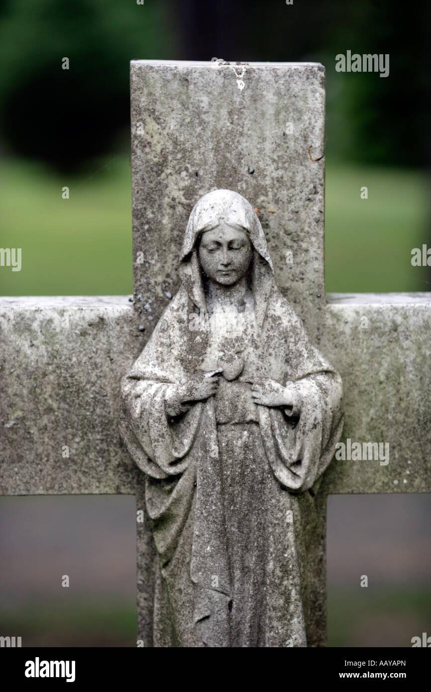 mary magdelene on a cross mother of the bleeing heart magdelen - Stock Image