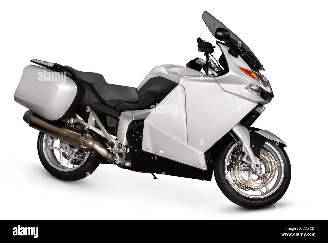 Modern motorcycle motorbike bike Isolated on white cutout - Stock Image