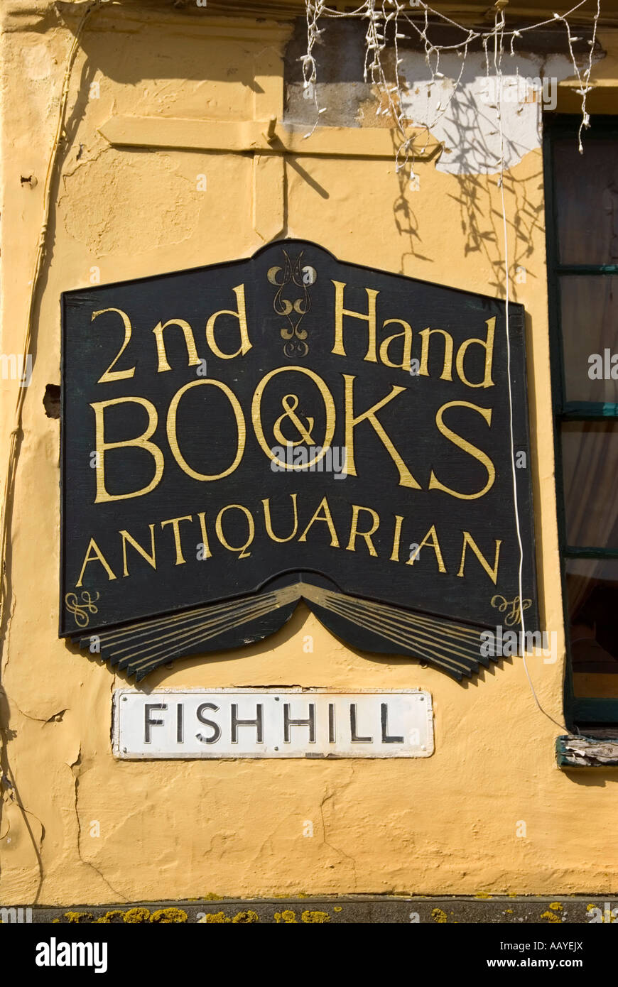 Book shop sign in Holt - Stock Image
