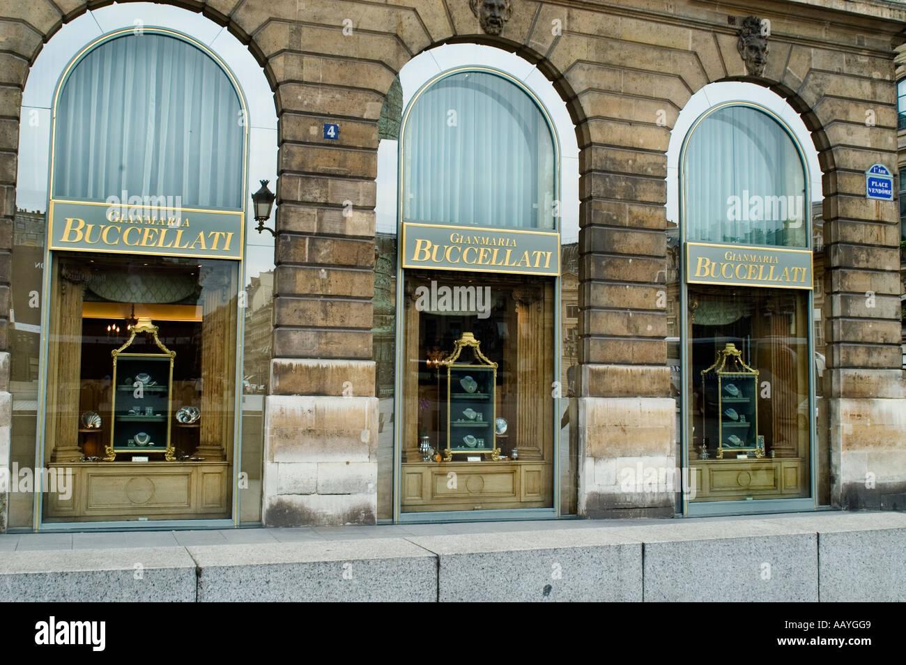 Buccellati Place Vendome jeweler Paris France - Stock Image