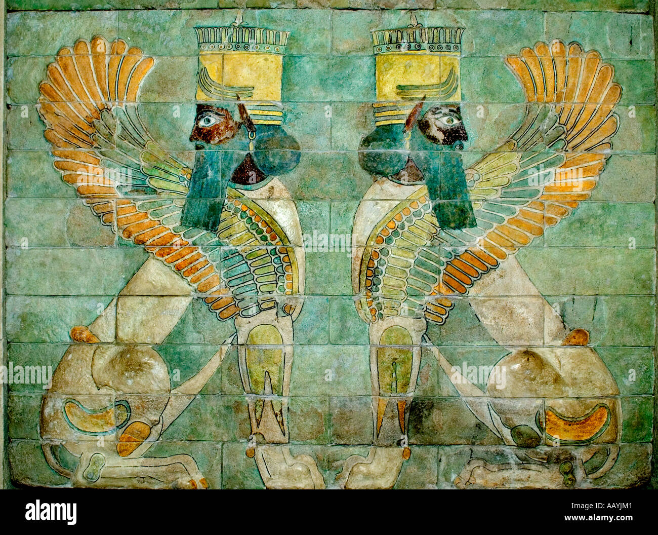 Persian frieze from the Palace of Darius the Great in Susa - Stock Image