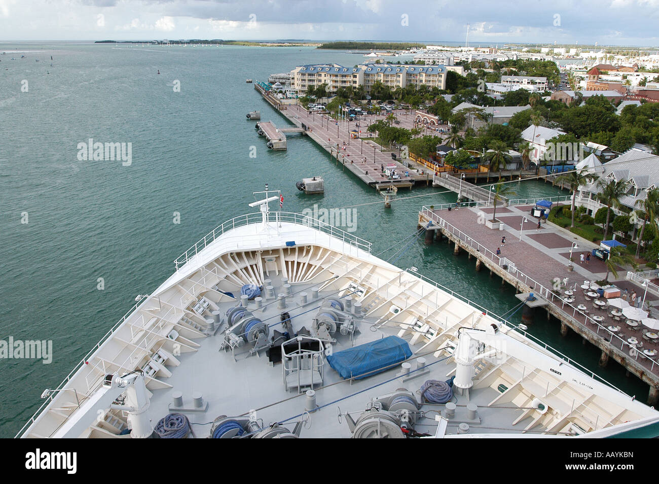 Rhapsody of the seas docking in Key West, florida - Stock Image