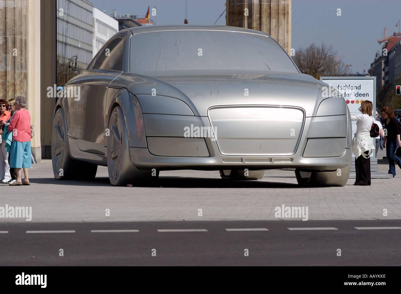 d71263457e Audi TT sculpture of a car in front of Berlin s landmark Brandenburg Gate