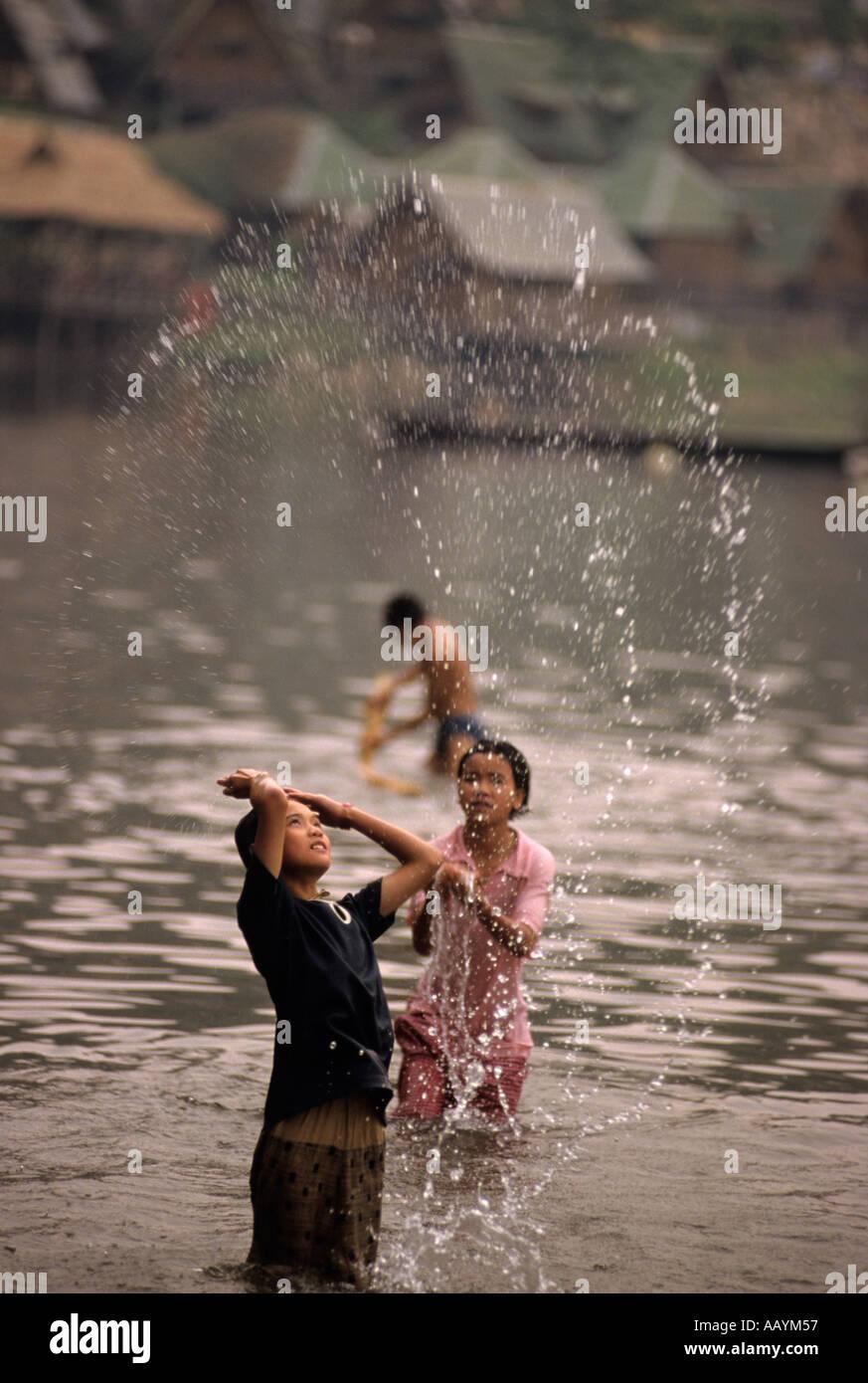Mae Sai River the border between Thailand and Myanmar Burma Stock Photo