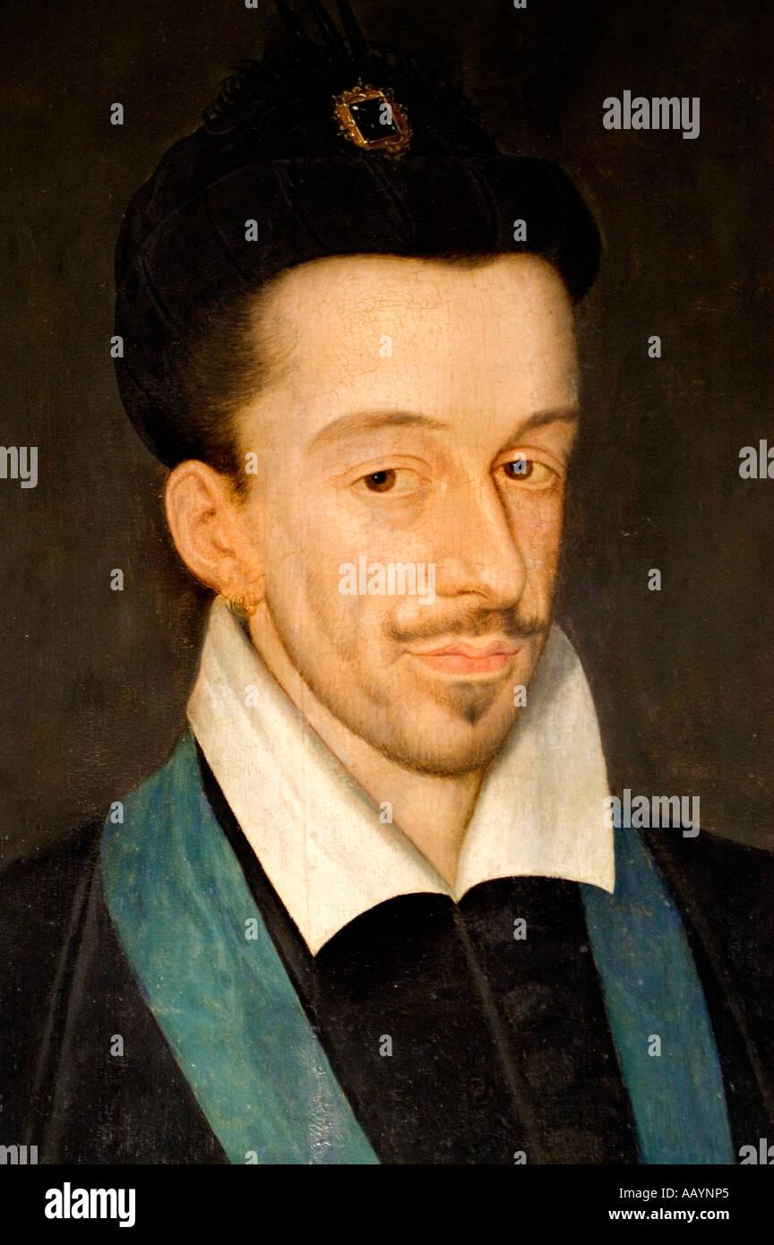 Francois Quesnel Henri III 3 king of France 1551 1589 Stock Photo