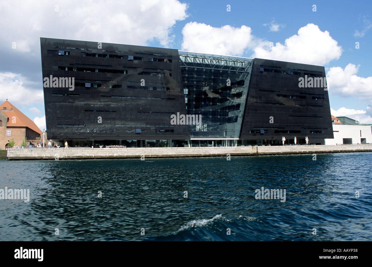 The Royal Danish Library  also called The Black Diamond Christians Brygge in Copenhagen Denmark - Stock Image