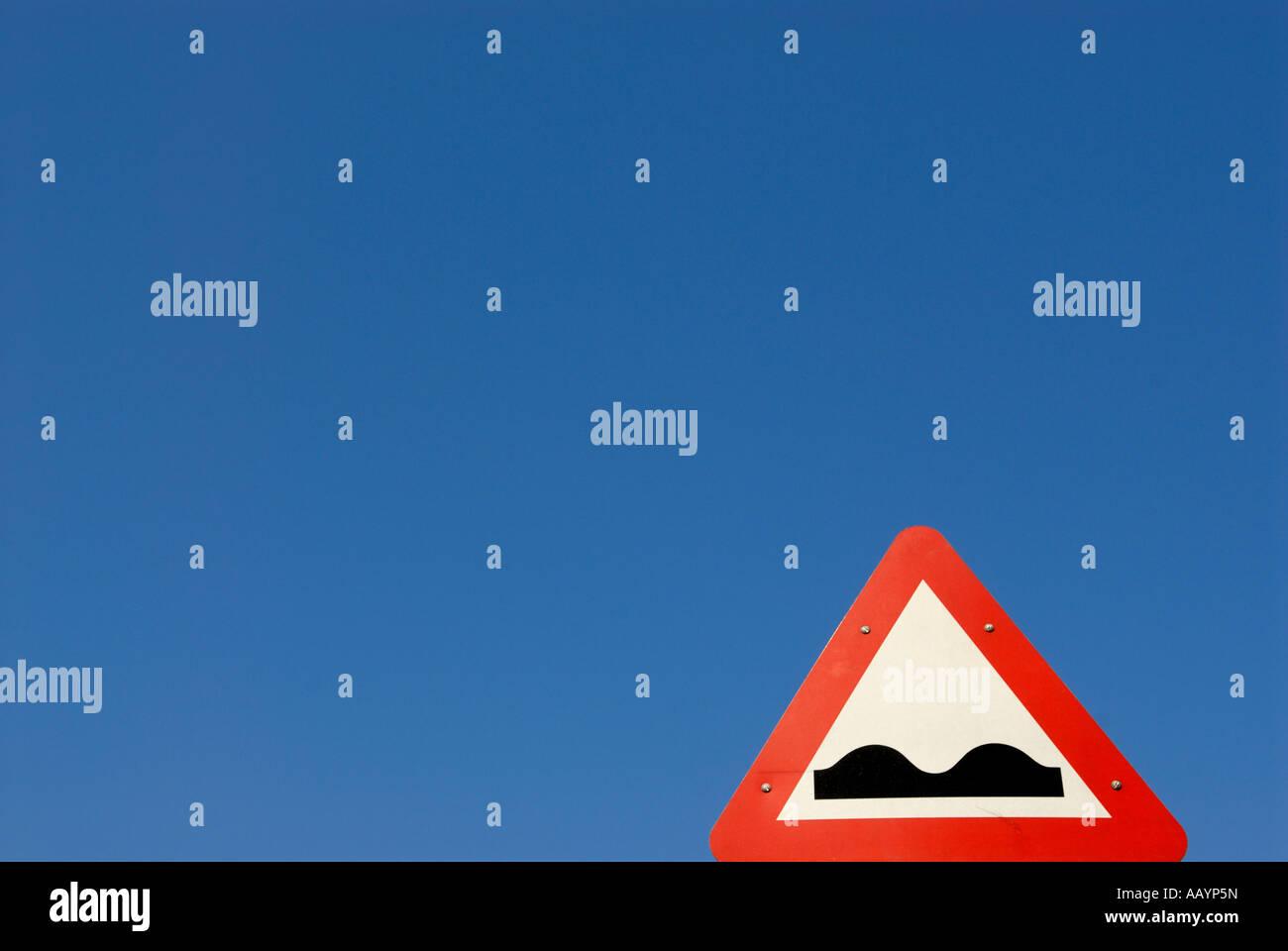 SPEED BUMP - Stock Image