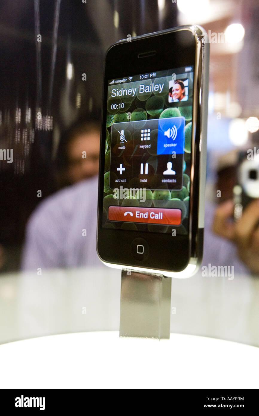 iPhone Display at Macworld 2007 - Stock Image