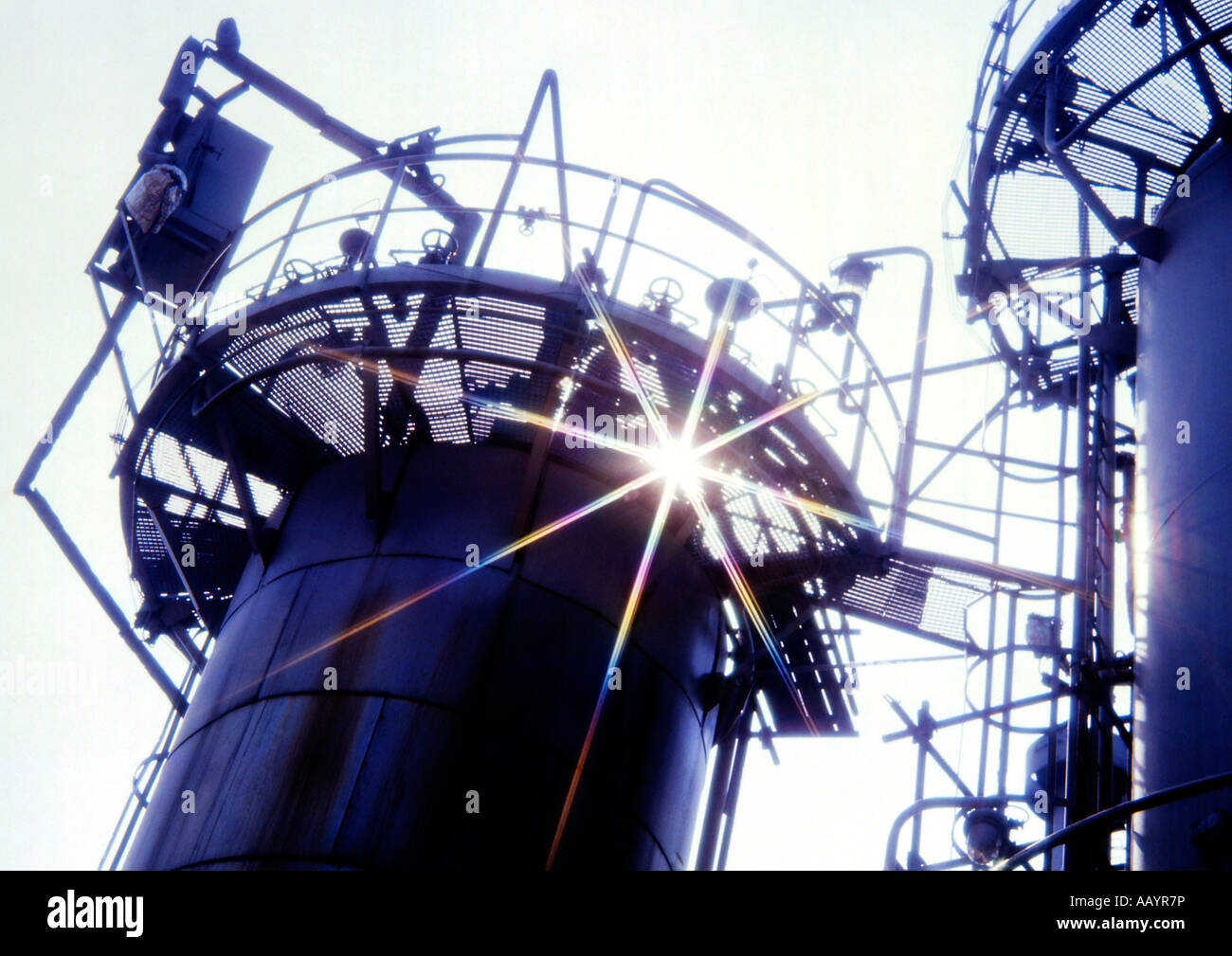 Petrochemical Industry Chemistry Refining Plant Factory Towers Oil Industry Ceska republi Stock Photo