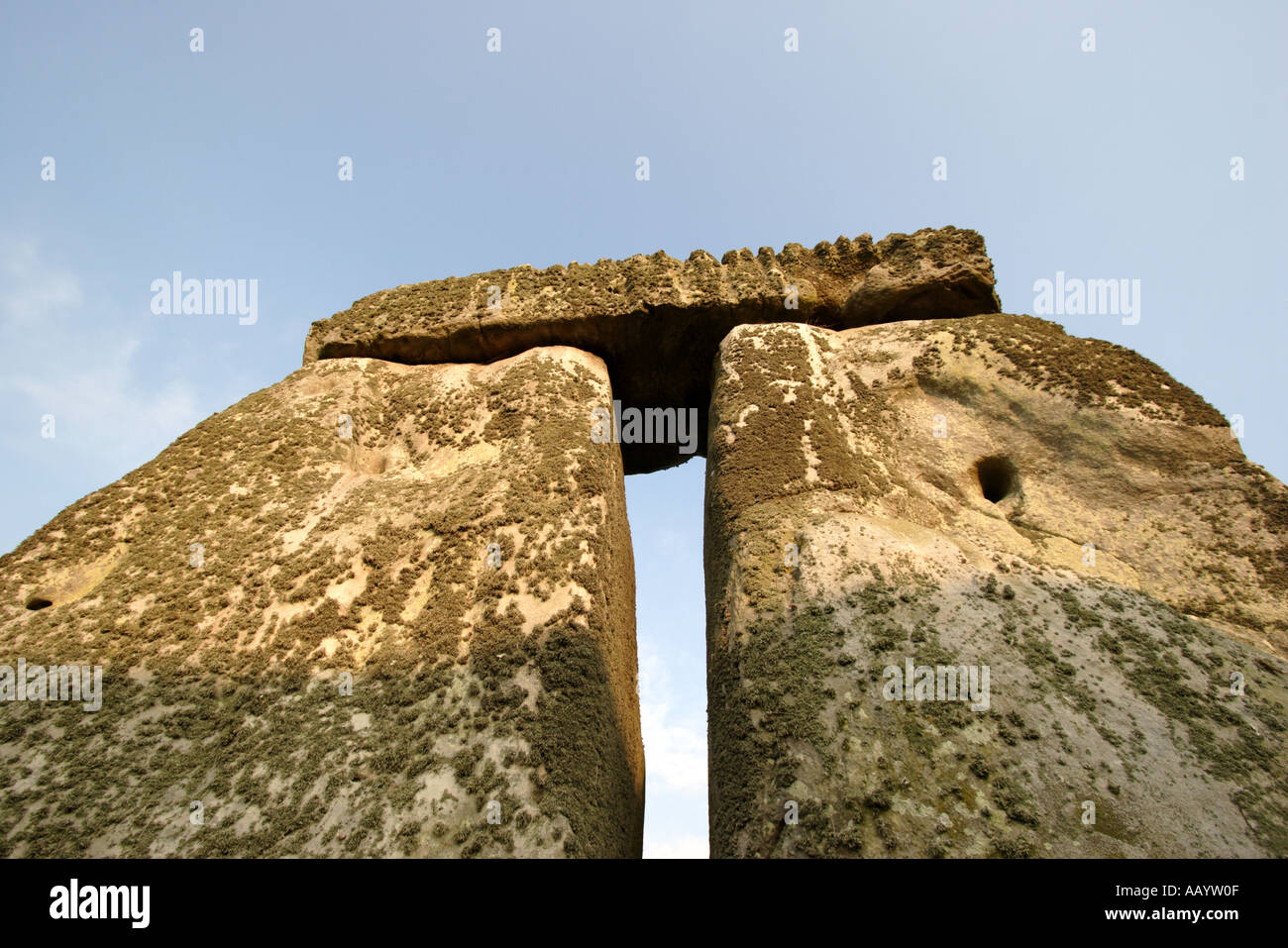 Stonehenge World Heritage Site in the heart of Wiltshire England Stock Photo