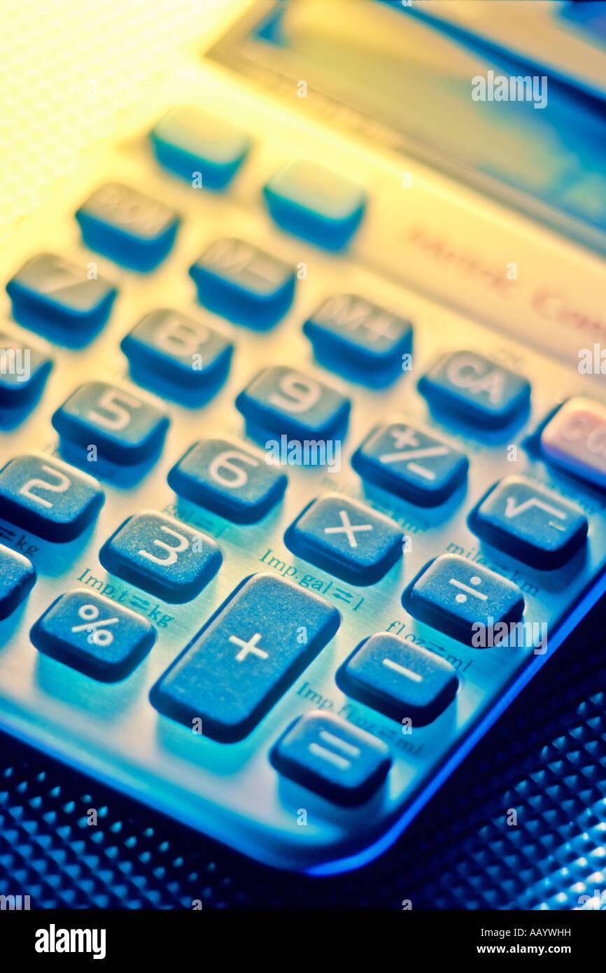 metric conversion hand calculator - Stock Image