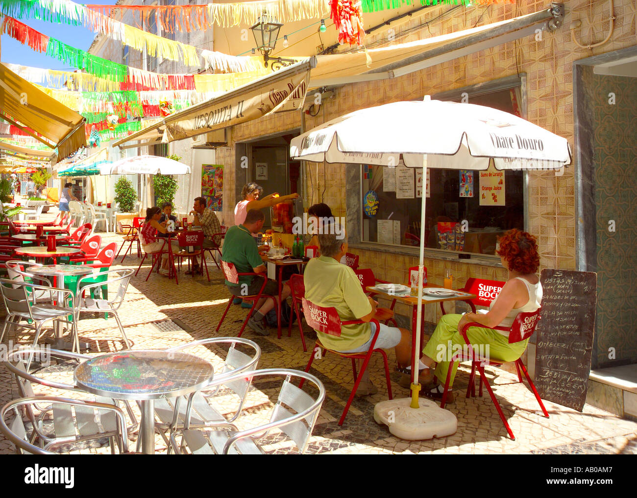 Europe Portugal Algarve Silves Cafe Stock Photo