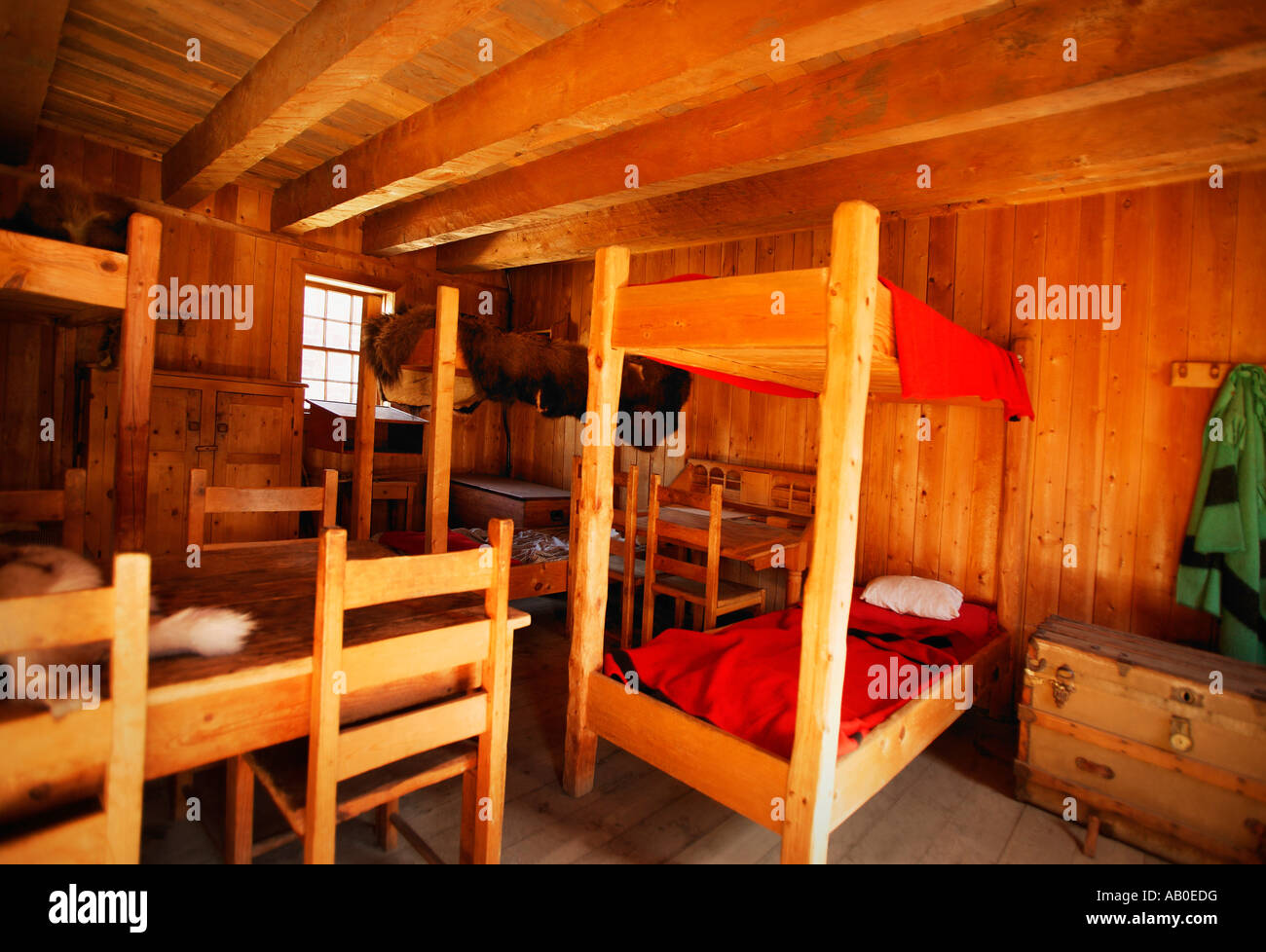 Bunk beds in a rustic interior - Stock Image