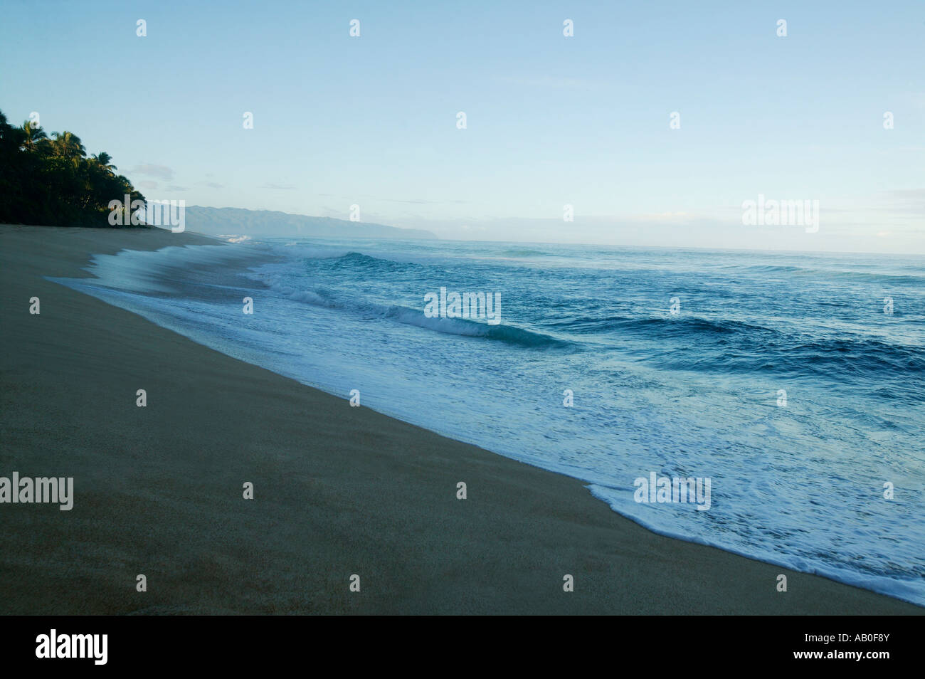 A scenic beach - Stock Image