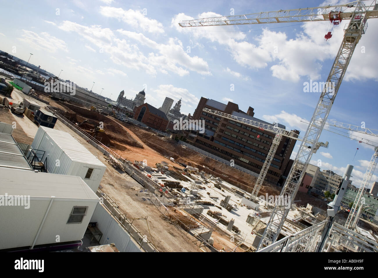 Inner city construction site - Stock Image