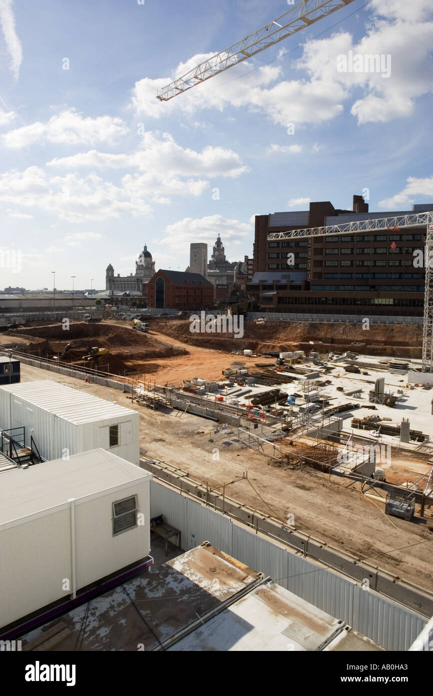 Construction site regeneration project in an inner city - Stock Image