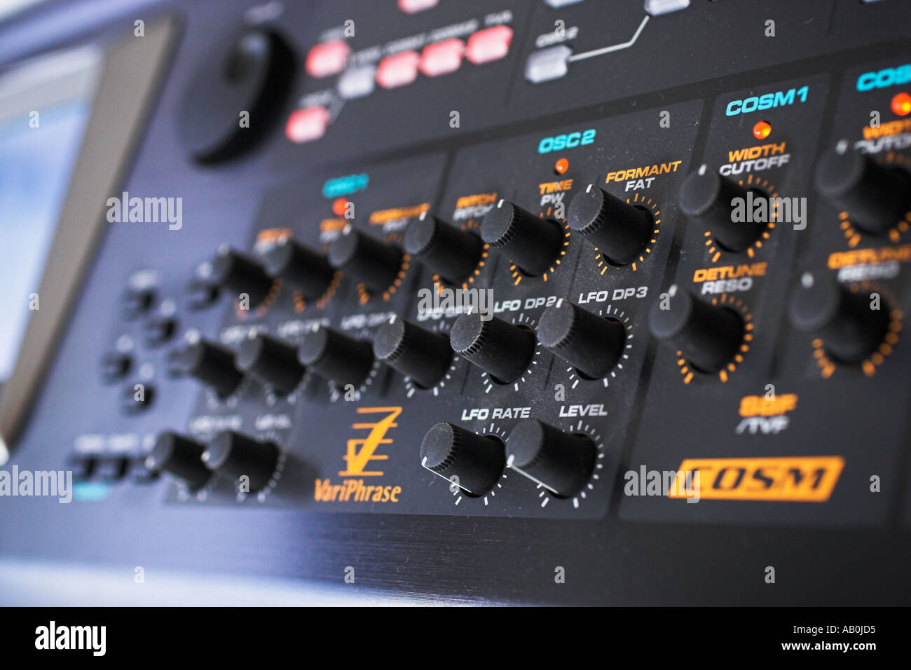 synthesizer controls - Stock Image